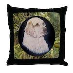 Clumber Spaniel Hunter Throw Pillow