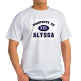 Property of alyssa Ash Grey T-Shirt