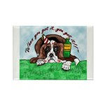 Bassett Hound Party guy!! Rectangle Magnet (10 pac