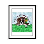 Bassett Hound Party guy!! Framed Panel Print