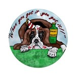 Bassett Hound Party guy!! Ornament (Round)