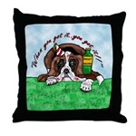 Bassett Hound Party guy!! Throw Pillow