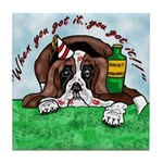 Bassett Hound Party guy!! Tile Coaster