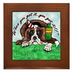 Bassett Hound Party guy!! Framed Tile