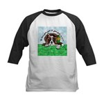 Bassett Hound Party guy!! Kids Baseball Jersey