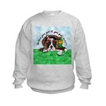 Bassett Hound Party guy!! Kids Sweatshirt