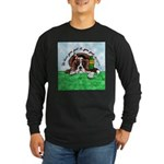 Bassett Hound Party guy!! Long Sleeve Dark T-Shirt