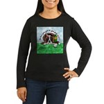 Bassett Hound Party guy!! Women's Long Sleeve Dark