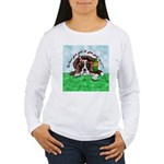 Bassett Hound Party guy!! Women's Long Sleeve T-Sh