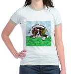 Bassett Hound Party guy!! Jr. Ringer T-Shirt