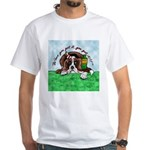Bassett Hound Party guy!! White T-Shirt