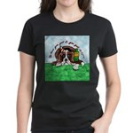 Bassett Hound Party guy!! Women's Dark T-Shirt
