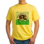 Bassett Hound Party guy!! Yellow T-Shirt