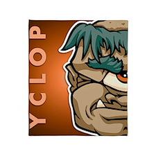 11x17_print_cyclops_txt Throw Blanket