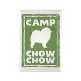 Camp Chow Chow (Rough Chow) Rectangle Magnet