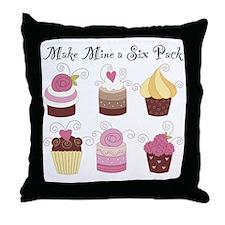 MakeMineA6Pack-2000x2000 Throw Pillow