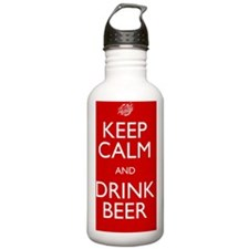 Keep Calm Red Sports Water Bottle
