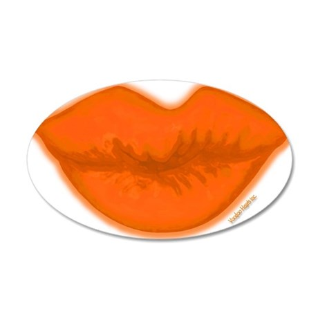 BigSLOPPYkissLipsONLY 35x21 Oval Wall Decal