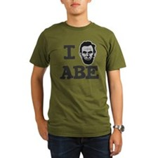 I-love-Abe-Grey T-Shirt