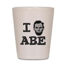 I-love-Abe-Grey Shot Glass