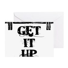 GET IT UP WHITE Greeting Card
