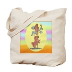 Norwich Terrier & Cat Tote Bag