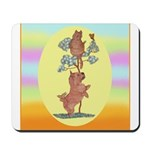 Norwich Terrier & Cat Mousepad