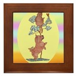 Norwich Terrier & Cat Framed Tile