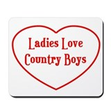 Country Boys Heart Mousepad