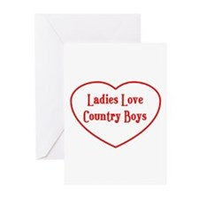 Country Boys Heart Greeting Cards (Pk of 10)