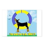 Agility Doberman Pinscher Postcards (Package of 8)