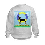 Agility Doberman Pinscher Kids Sweatshirt