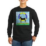 Agility Doberman Pinscher Long Sleeve Dark T-Shirt