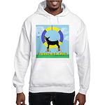 Agility Doberman Pinscher Hooded Sweatshirt
