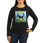 Agility Doberman Pinscher Women's Long Sleeve Dark