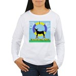 Agility Doberman Pinscher Women's Long Sleeve T-Sh