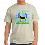 Agility Doberman Pinscher Ash Grey T-Shirt