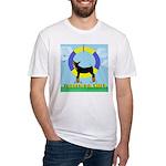Agility Doberman Pinscher Fitted T-Shirt