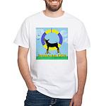Agility Doberman Pinscher White T-Shirt