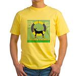 Agility Doberman Pinscher Yellow T-Shirt
