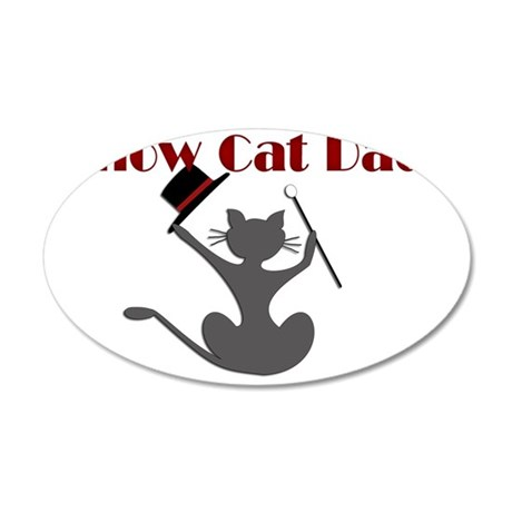 Show Cat Dad Rectangle 35x21 Oval Wall Decal