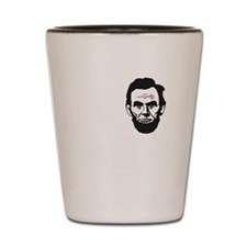 I-love-ABE-W Shot Glass