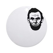 I-love-ABE-W Round Ornament