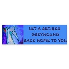 Blue Race Home Bumper Bumper Sticker