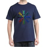Helm Of Awe Multi Color T-Shirt