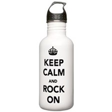 keep-calm-and-rock-on Water Bottle