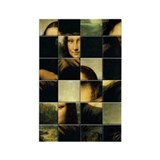 Mona Lisa Puzzle Rectangle Magnet