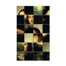 Mona Lisa Puzzle Rectangle Decal