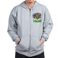 guitar tree color Zip Hoodie