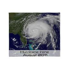 Hurricane Irene poster 2 Throw Blanket